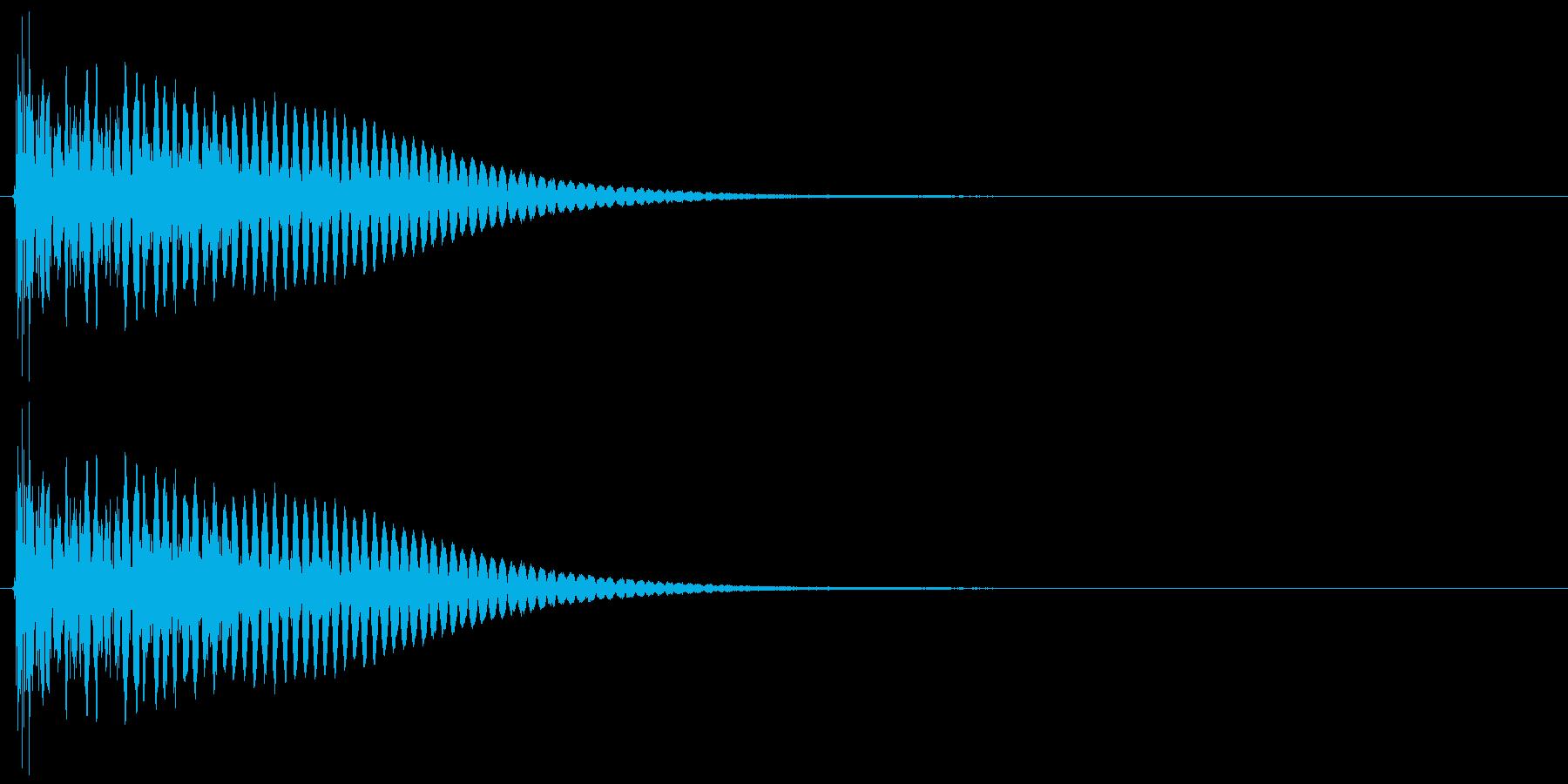 ドシューン、ブシューン 爆発、破裂音の再生済みの波形