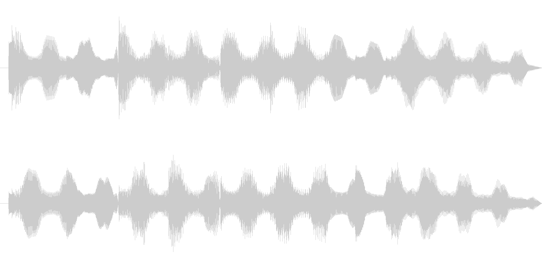 ほのぼのとしたエレピ音源の未再生の波形