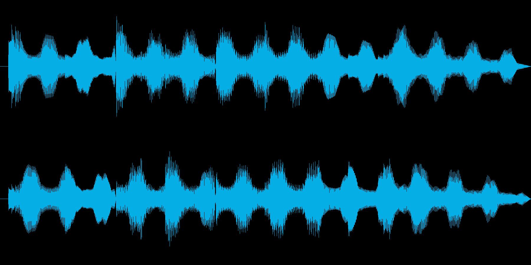 ほのぼのとしたエレピ音源の再生済みの波形