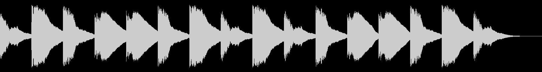 マリンバチャイム(ウエストミンスター)の未再生の波形