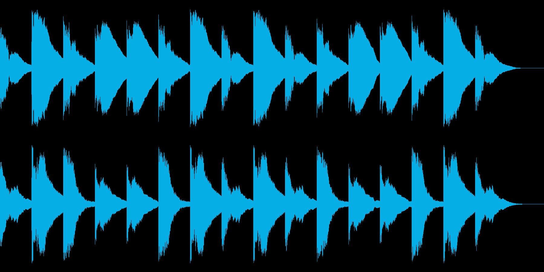 マリンバチャイム(ウエストミンスター)の再生済みの波形