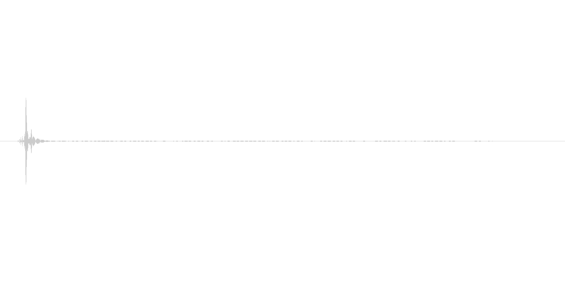 シュボッ(1よりも軽い音)の未再生の波形