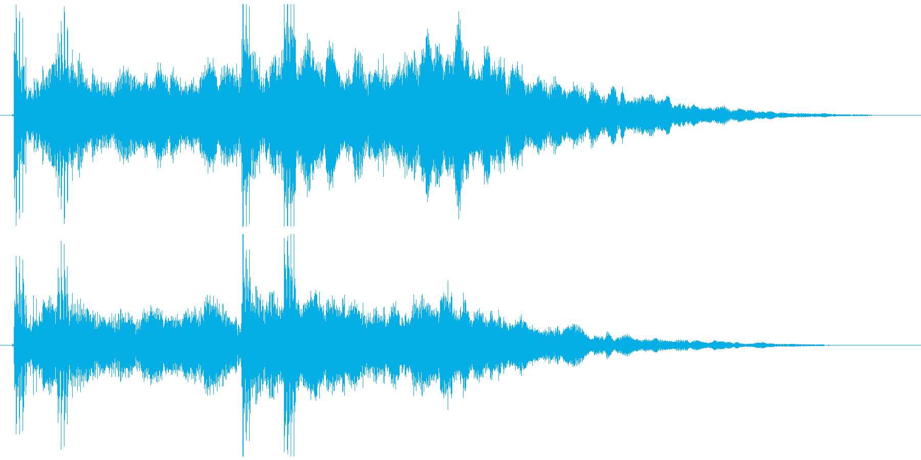 未来的なクール&スタイリッシュロゴの再生済みの波形