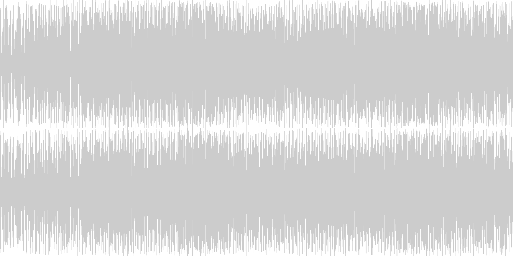 ゆるふわほのぼのゲームBGMの未再生の波形