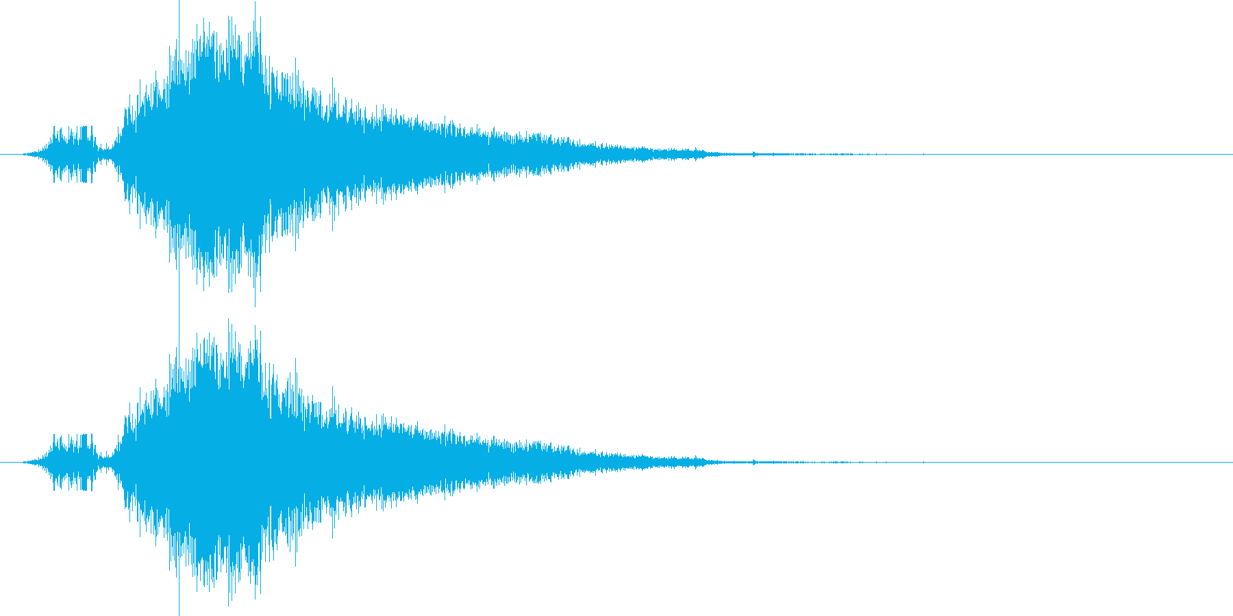 斬撃1の再生済みの波形