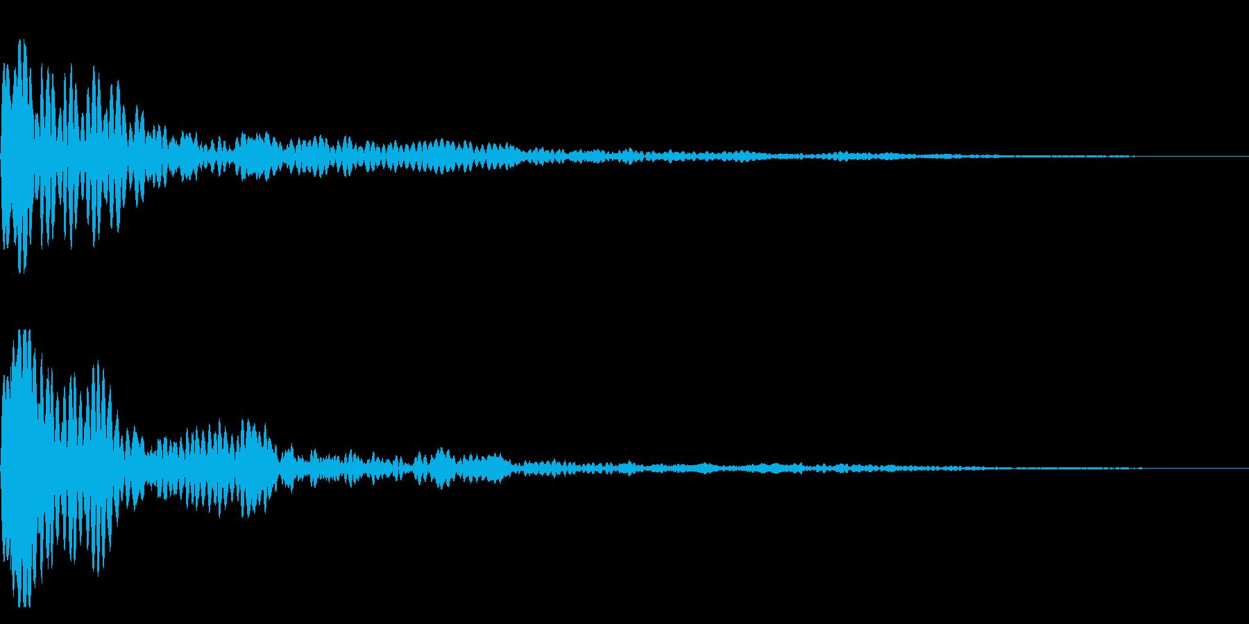 ピーン(ダイアログを開く_02re)の再生済みの波形