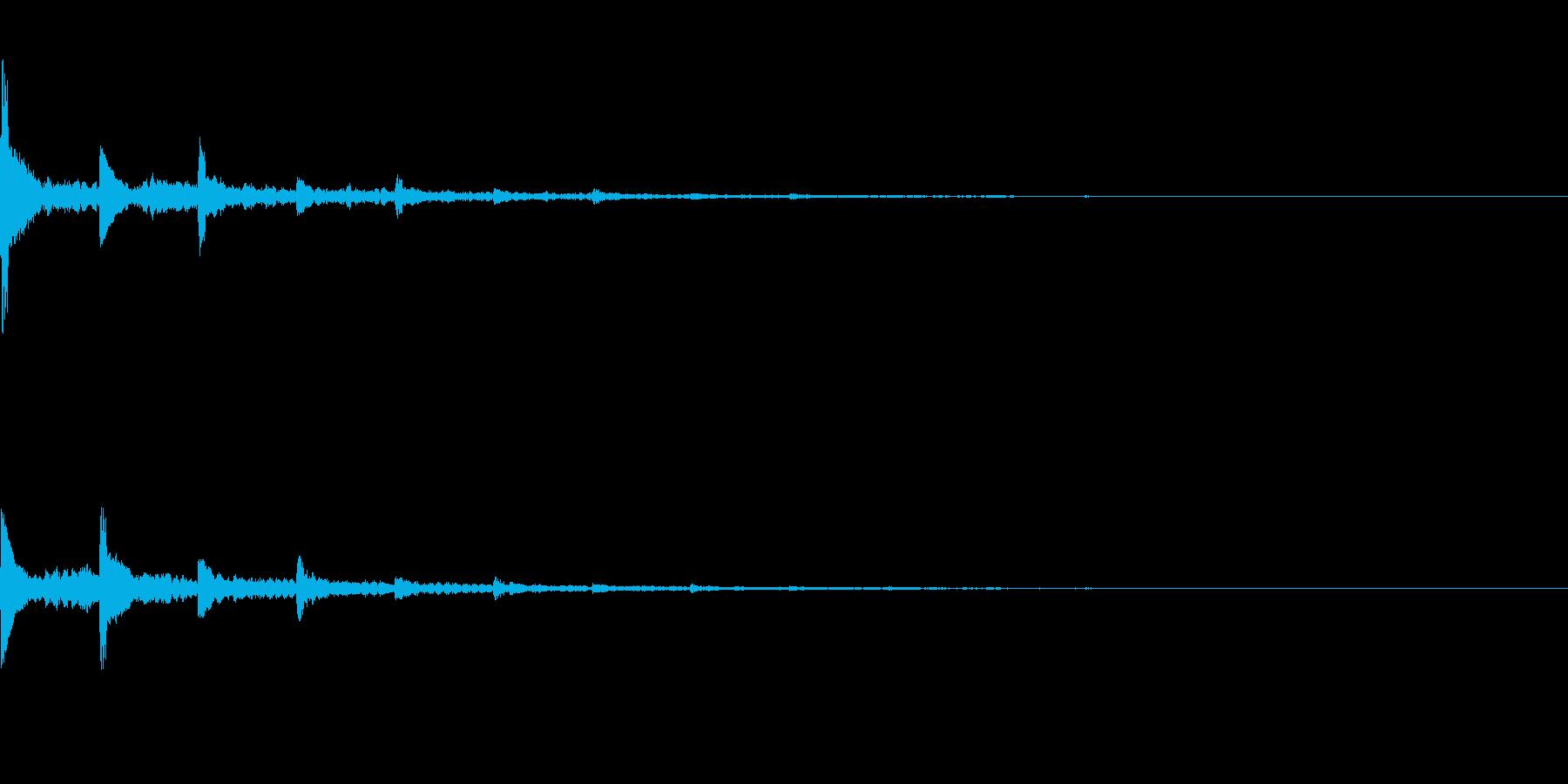 効果音  響くピアノの再生済みの波形