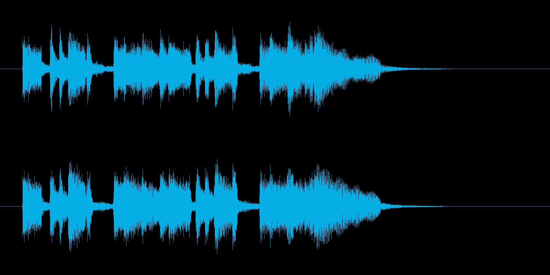 お洒落で滑らかな短めのジャズの曲の再生済みの波形