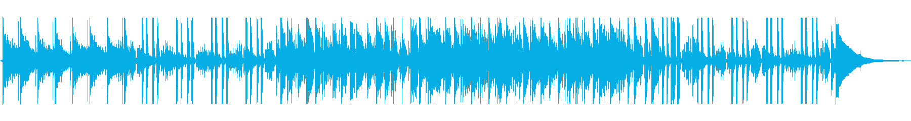 カフェで流れているようなボサノバの再生済みの波形