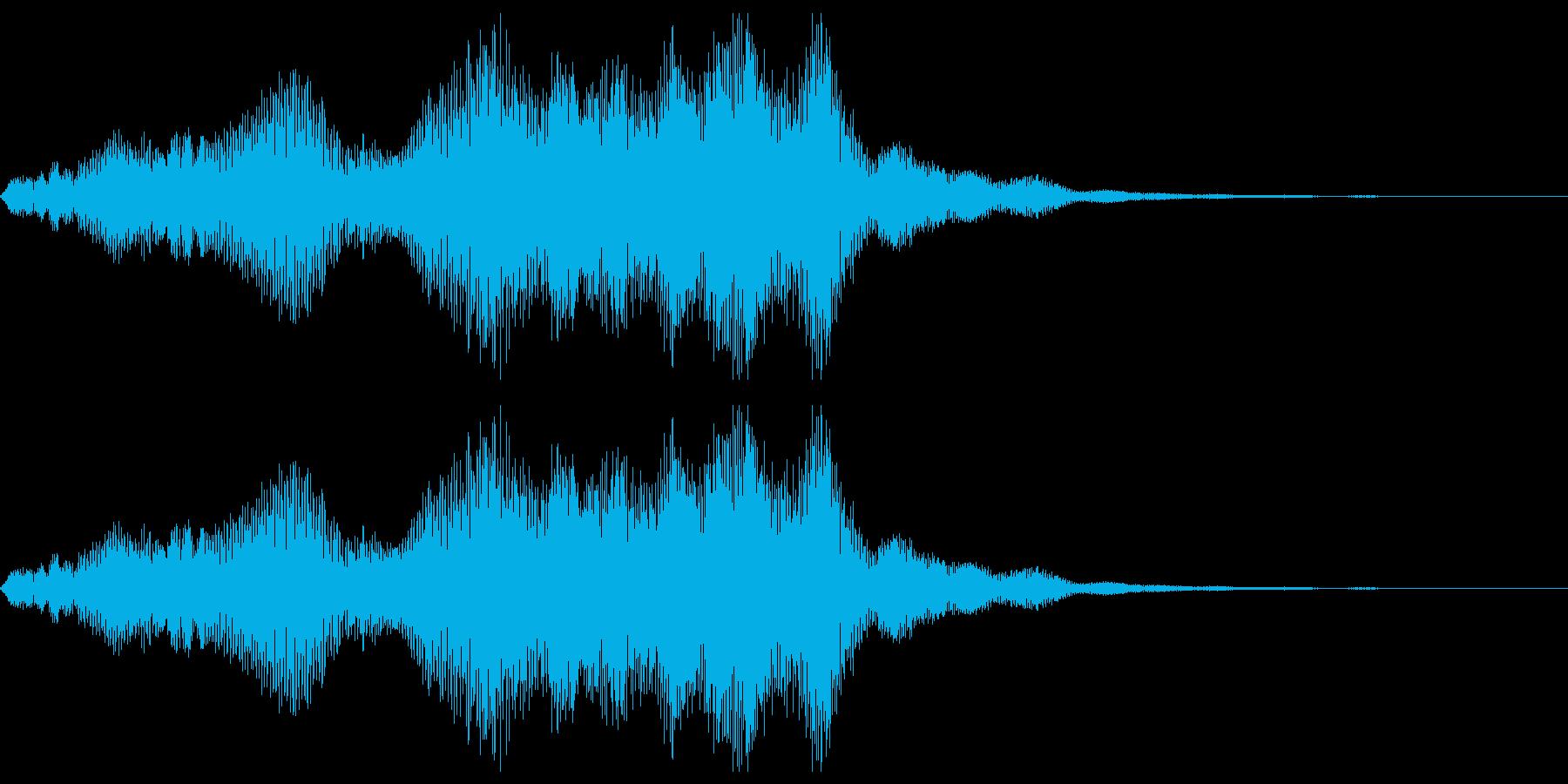 不安音01の再生済みの波形