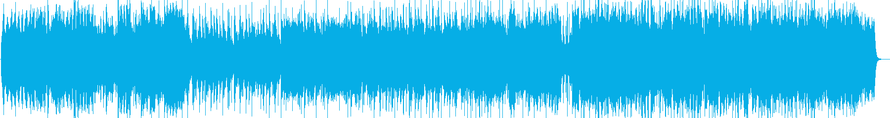 透明感のあるピアノ曲の再生済みの波形