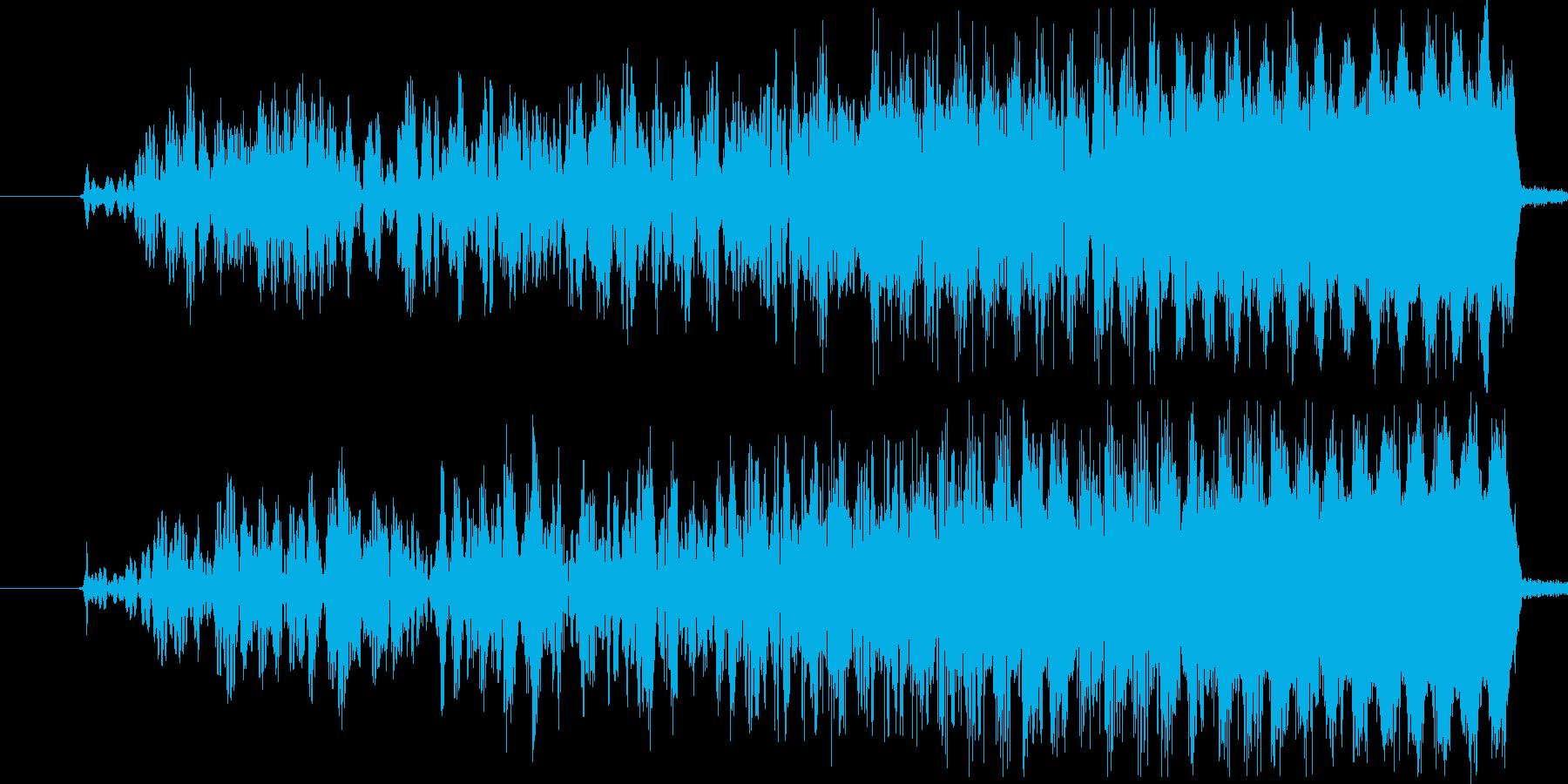 UFOなどが飛び立つ時の効果音・SEの再生済みの波形
