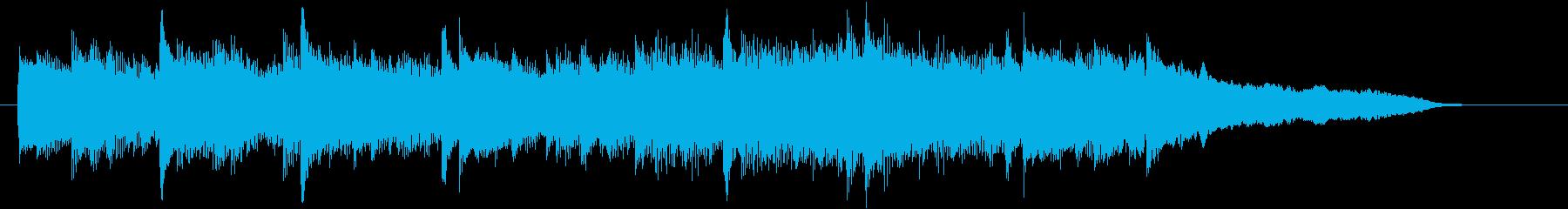 CM15秒、感動的なアコギとストリングスの再生済みの波形