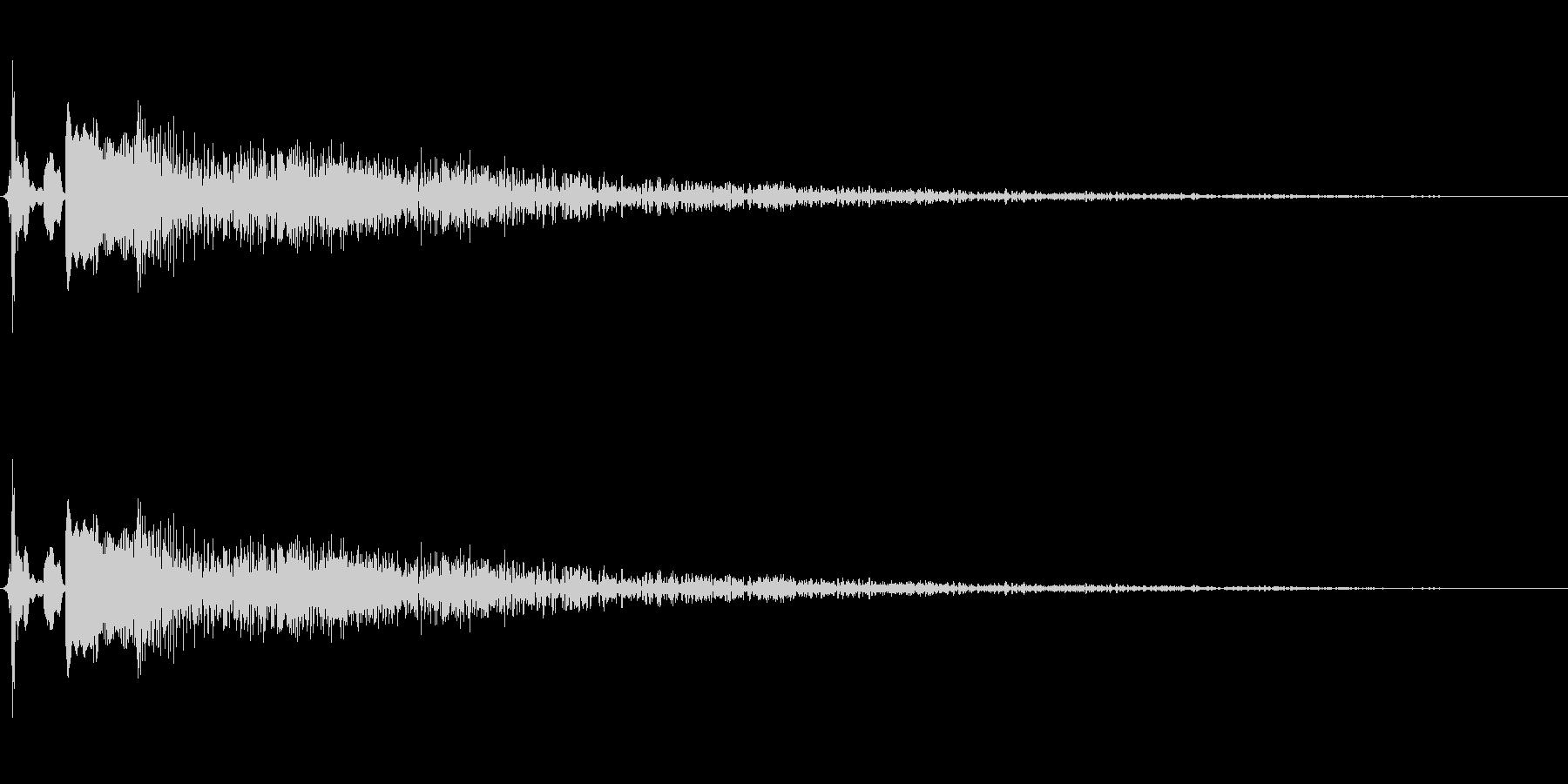 転ぶ・倒れる・失敗に使えるコミカル音の未再生の波形