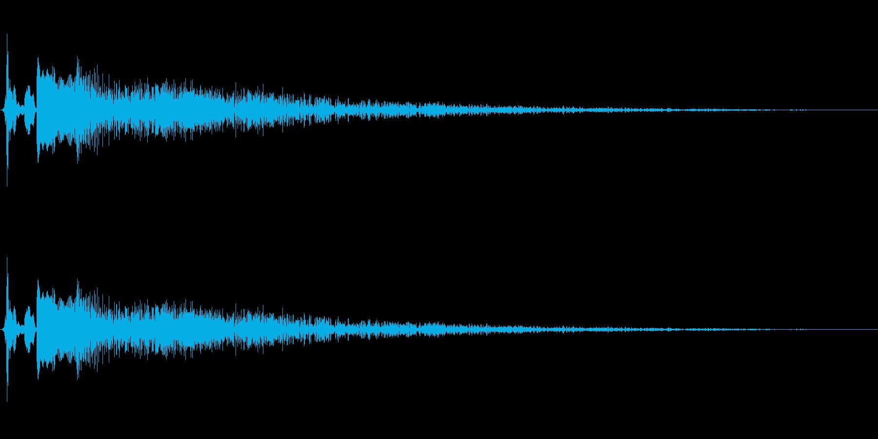 転ぶ・倒れる・失敗に使えるコミカル音の再生済みの波形