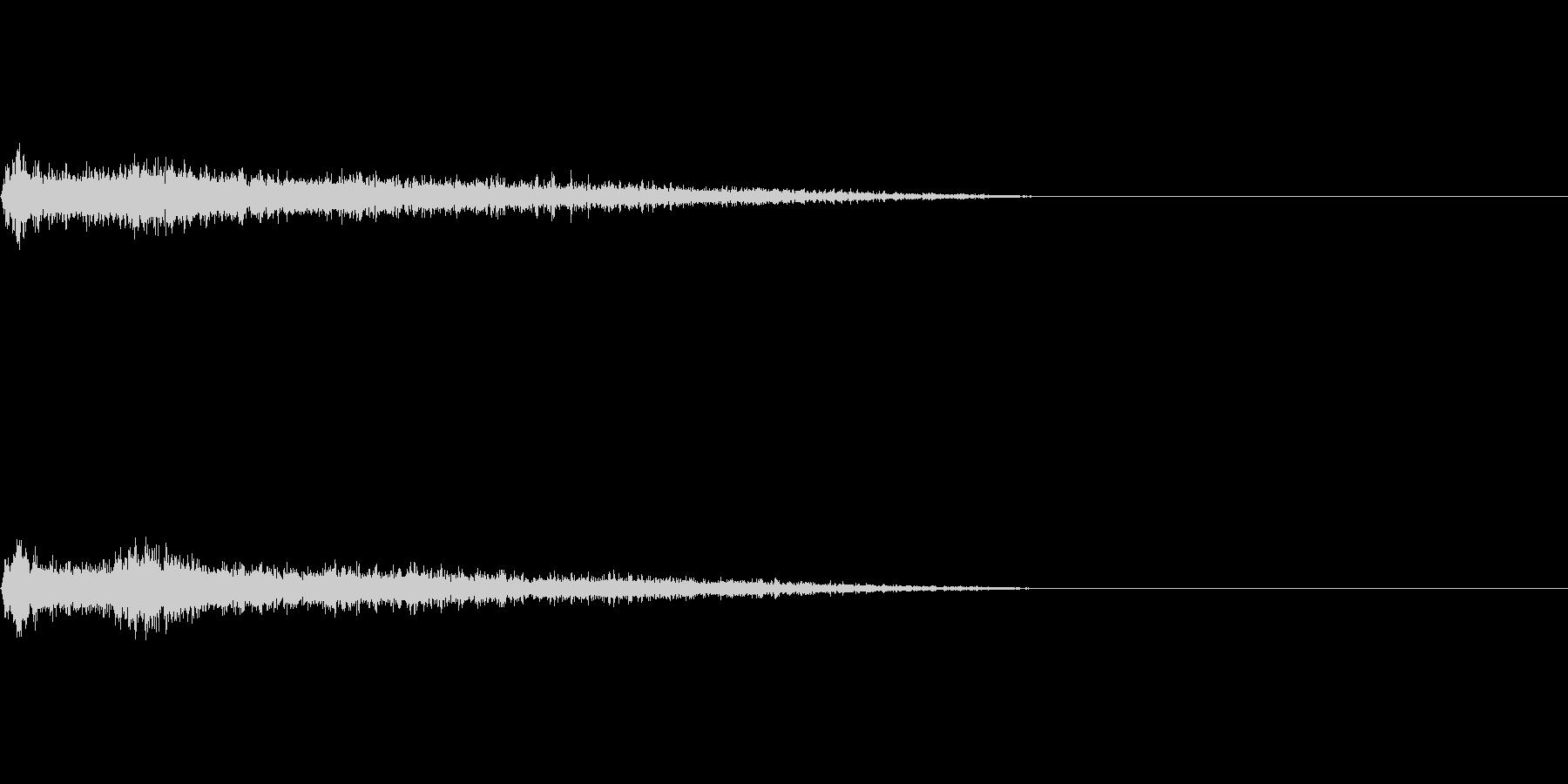Bメジャー インパクト音 衝撃音の未再生の波形