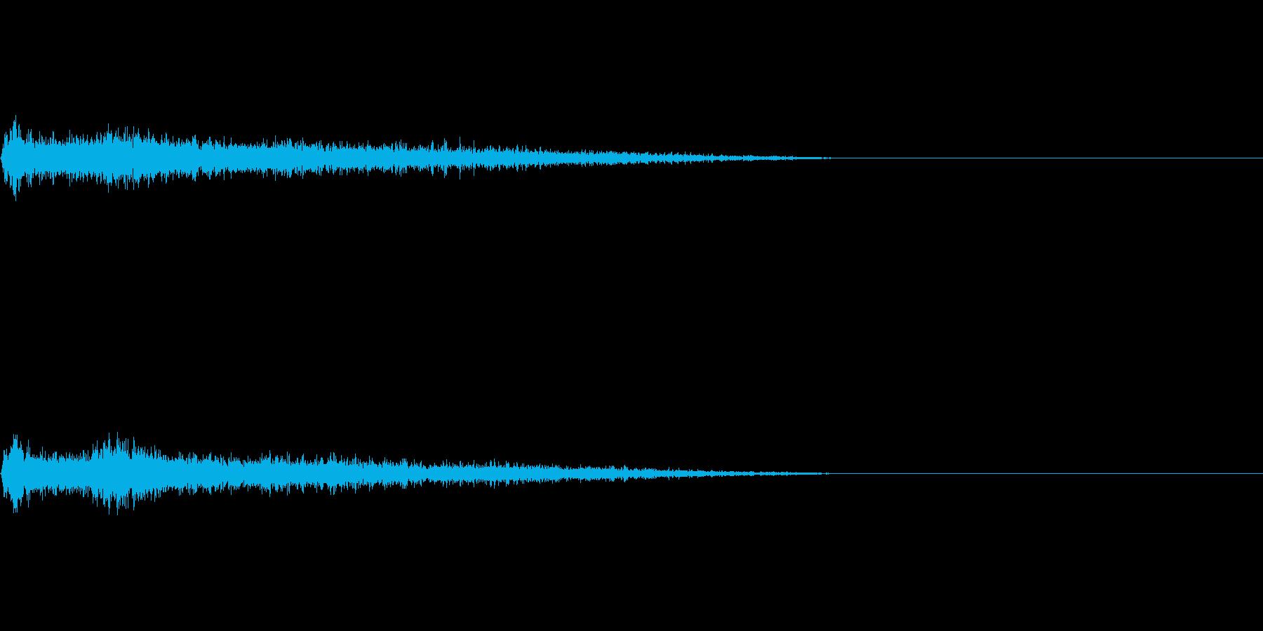 Bメジャー インパクト音 衝撃音の再生済みの波形