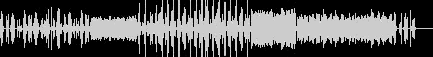 和風テイストでコミカルな楽曲の未再生の波形