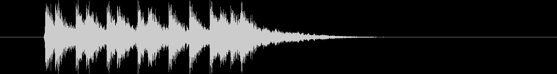 勢いのあるリズムのロックによるジングル曲の未再生の波形