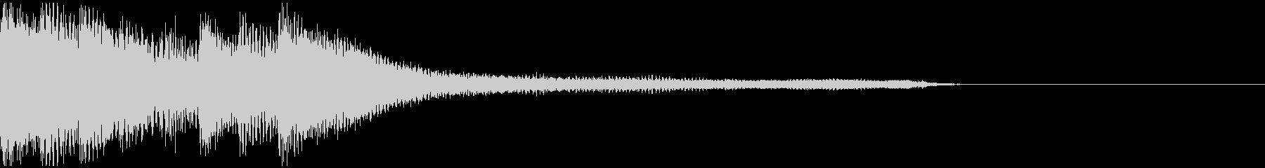 ピアノソロによるジングルの未再生の波形
