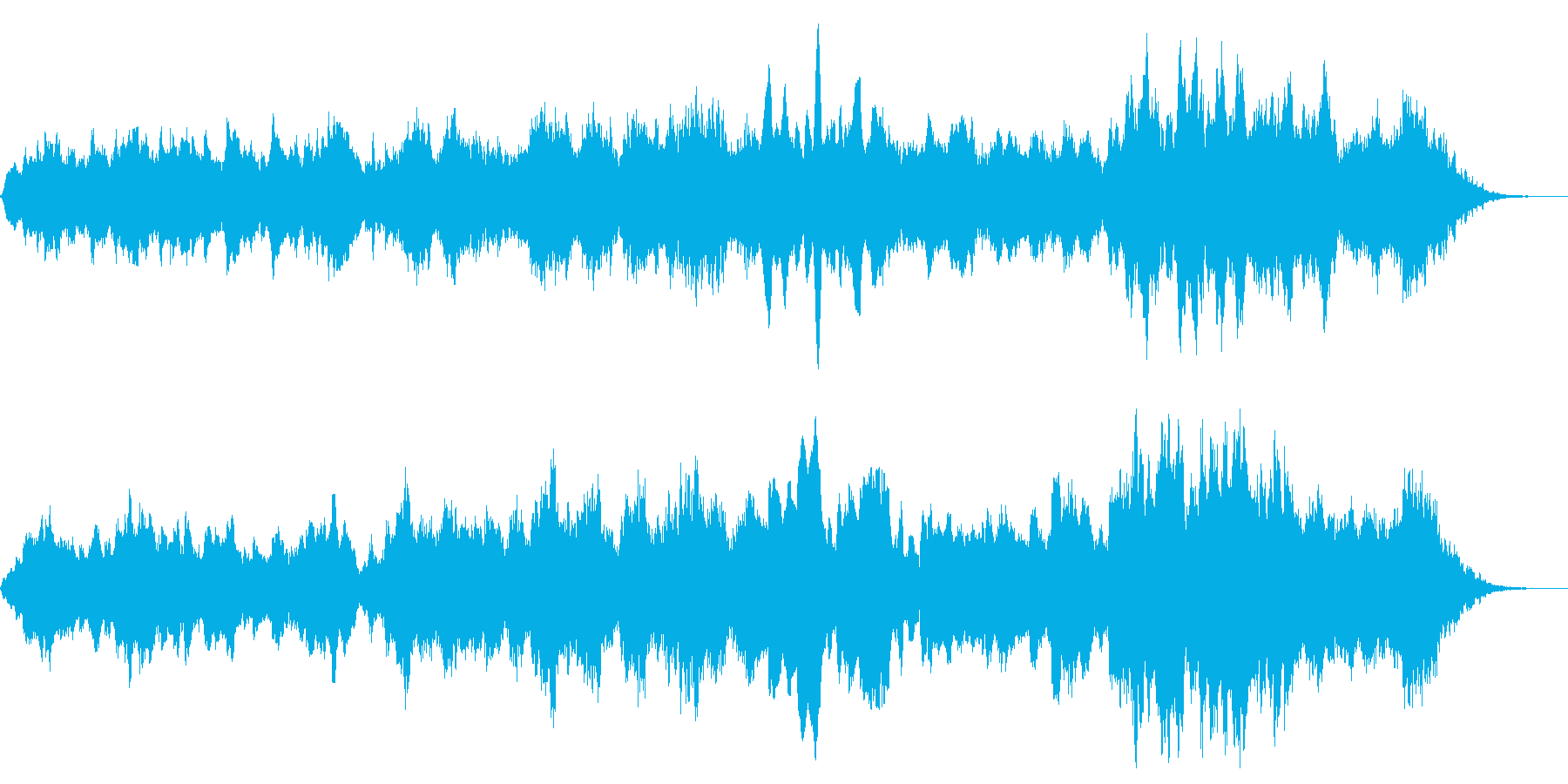 クラリネットを使った寂しげな雰囲気の曲の再生済みの波形