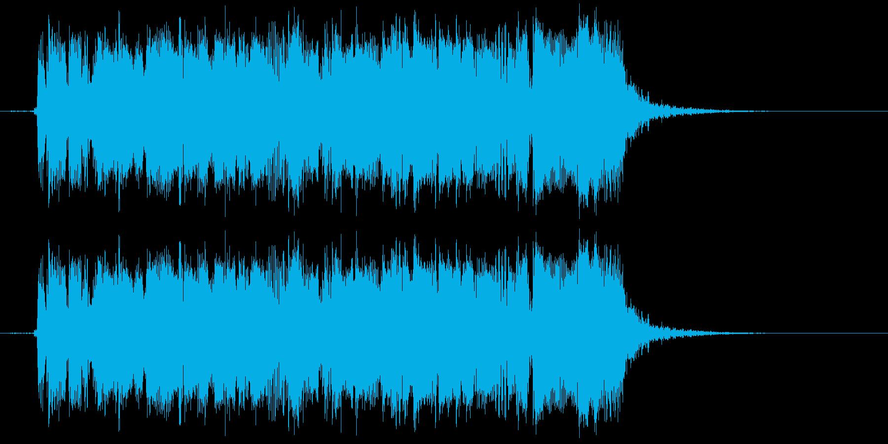 ギターフレーズ016の再生済みの波形