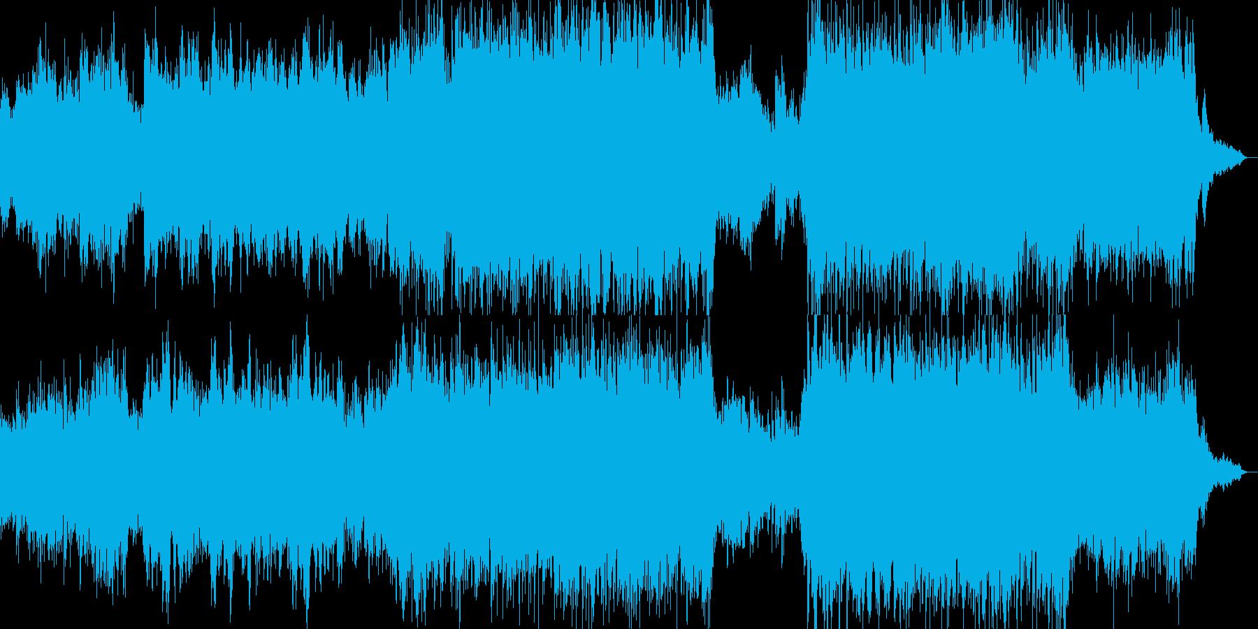 旅に出たくなる、ファンタジー系BGMの再生済みの波形