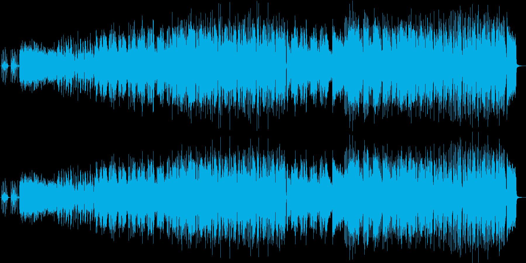 ファンキーでクールなブルースハードロックの再生済みの波形