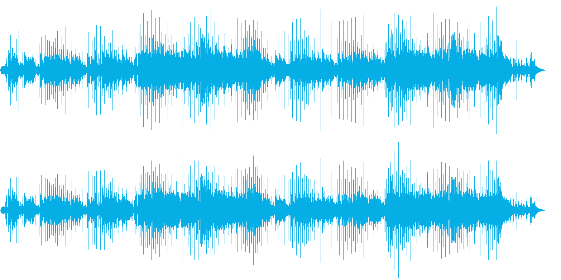入場用ニューミュージック風バラードの再生済みの波形