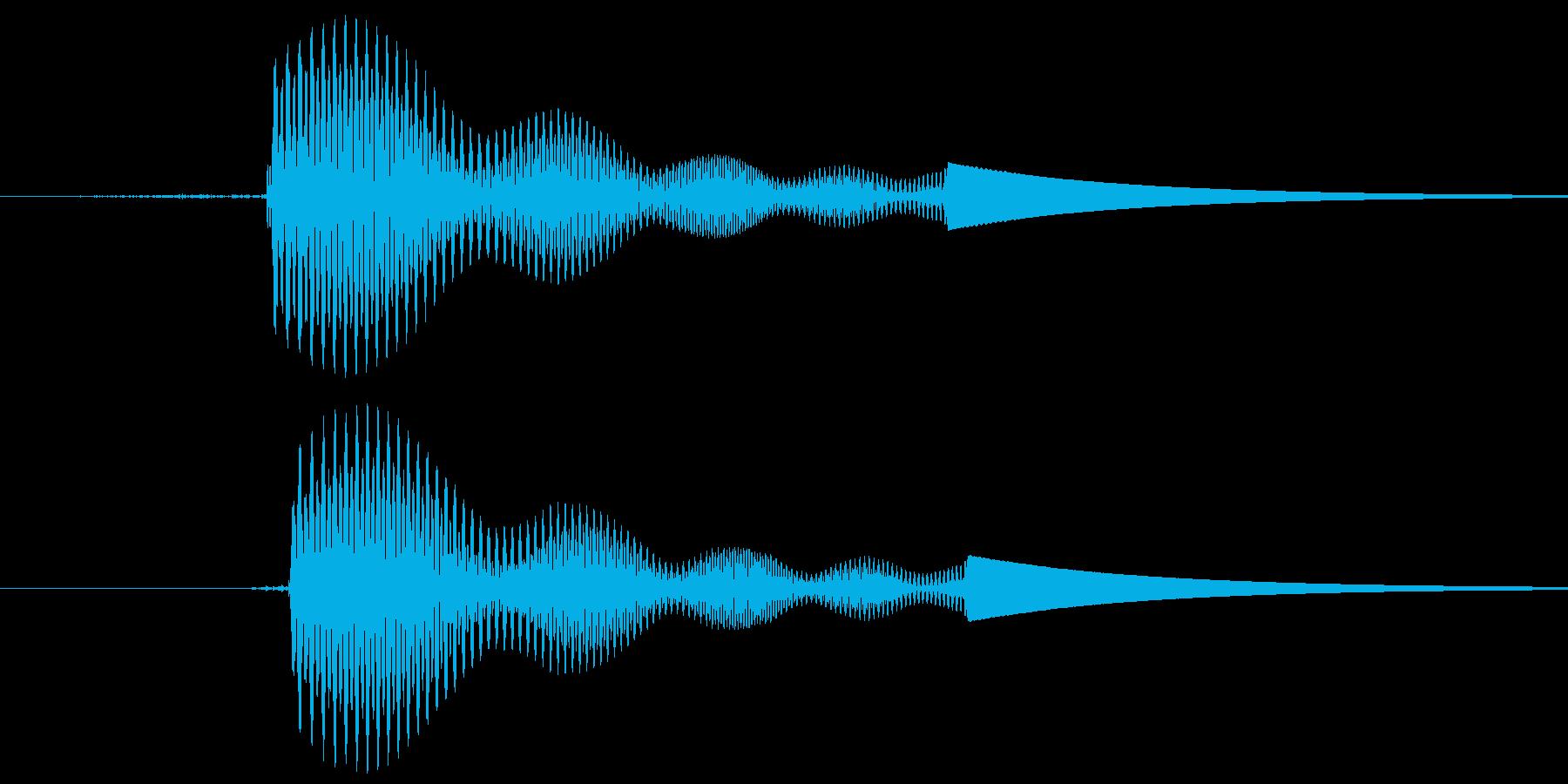 カーソルボタン音(決定音)「プイッ」の再生済みの波形