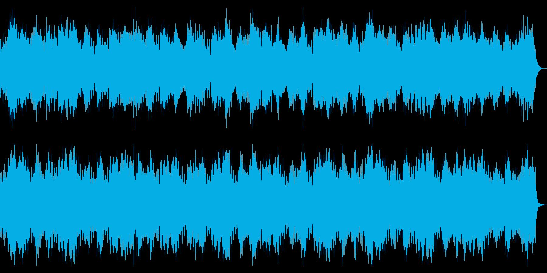 ダークな背景、ホラーなBGM 恐怖感演出の再生済みの波形