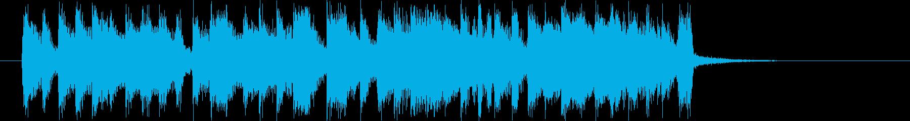 緩やかで軽快なシンセポップジングルの再生済みの波形