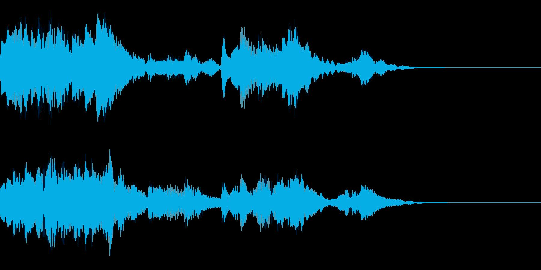 神秘的なクリスタル音06- ジングルCMの再生済みの波形