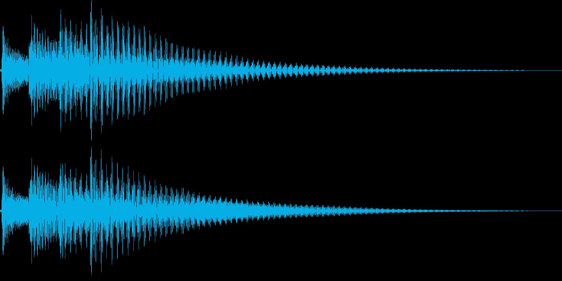 ジャラン低音(スタート 選択 登場)の再生済みの波形