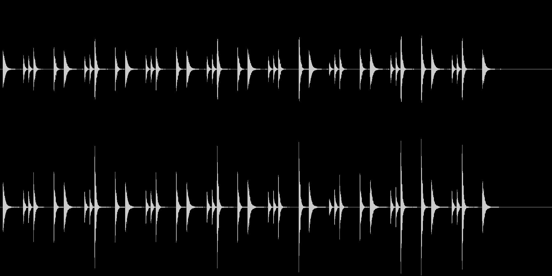 お囃子祭りの軽快な当り鉦のループ音FX有の未再生の波形