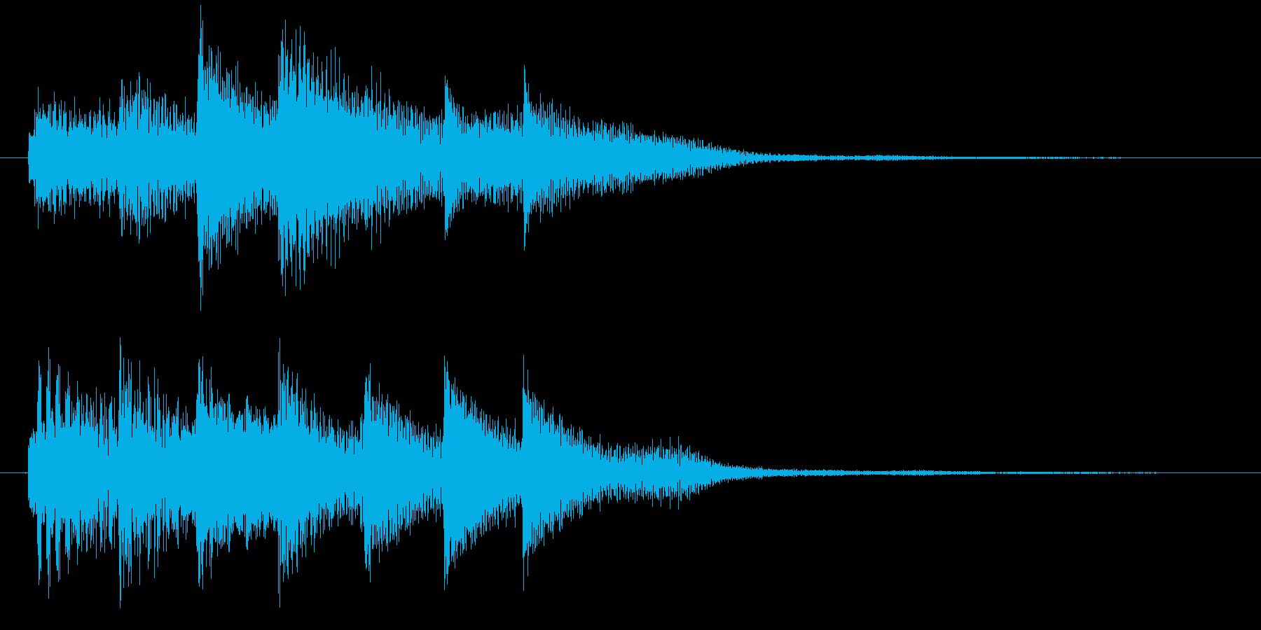 ピアノ転回音1の再生済みの波形