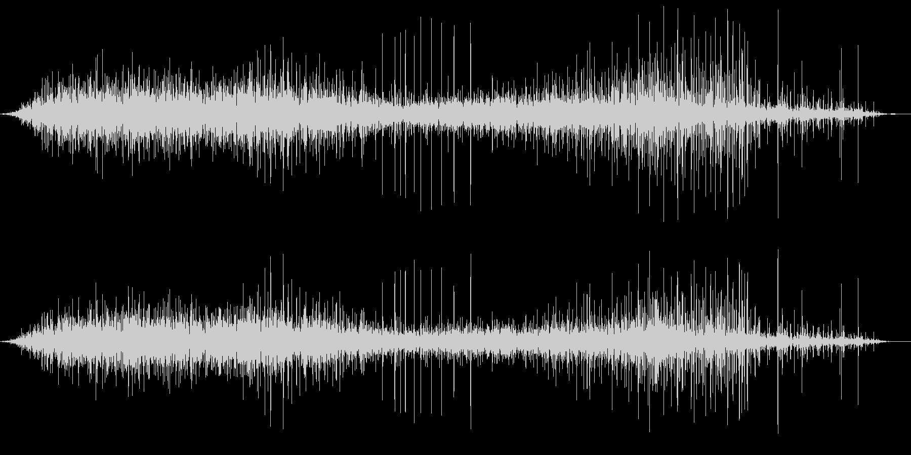 ジュー(熱いものが当たった音)の未再生の波形