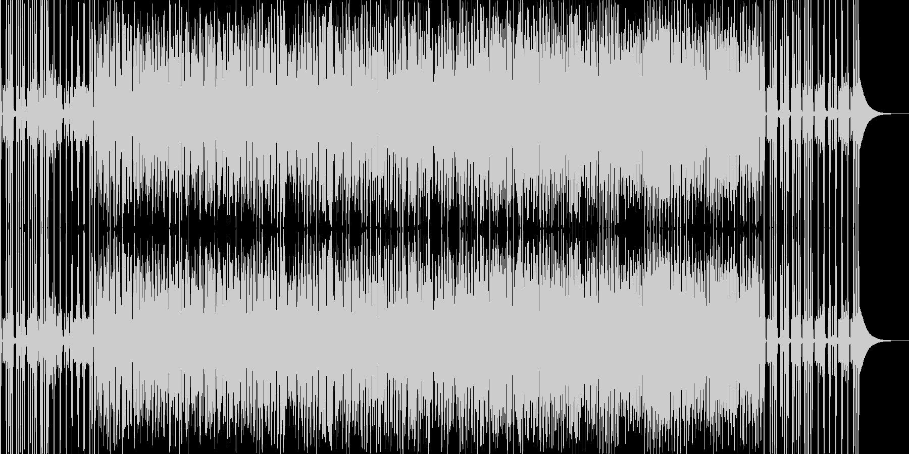 情熱的なイメージの楽曲。裏打ちレゲエ系。の未再生の波形