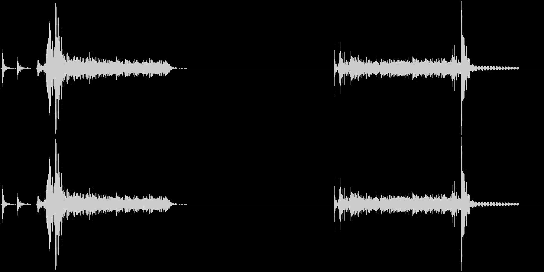 Bluerayデッキのトレイ出し入れ音の未再生の波形