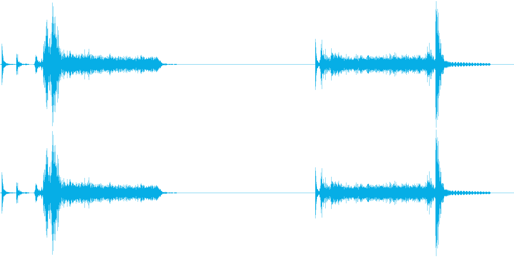 Bluerayデッキのトレイ出し入れ音の再生済みの波形