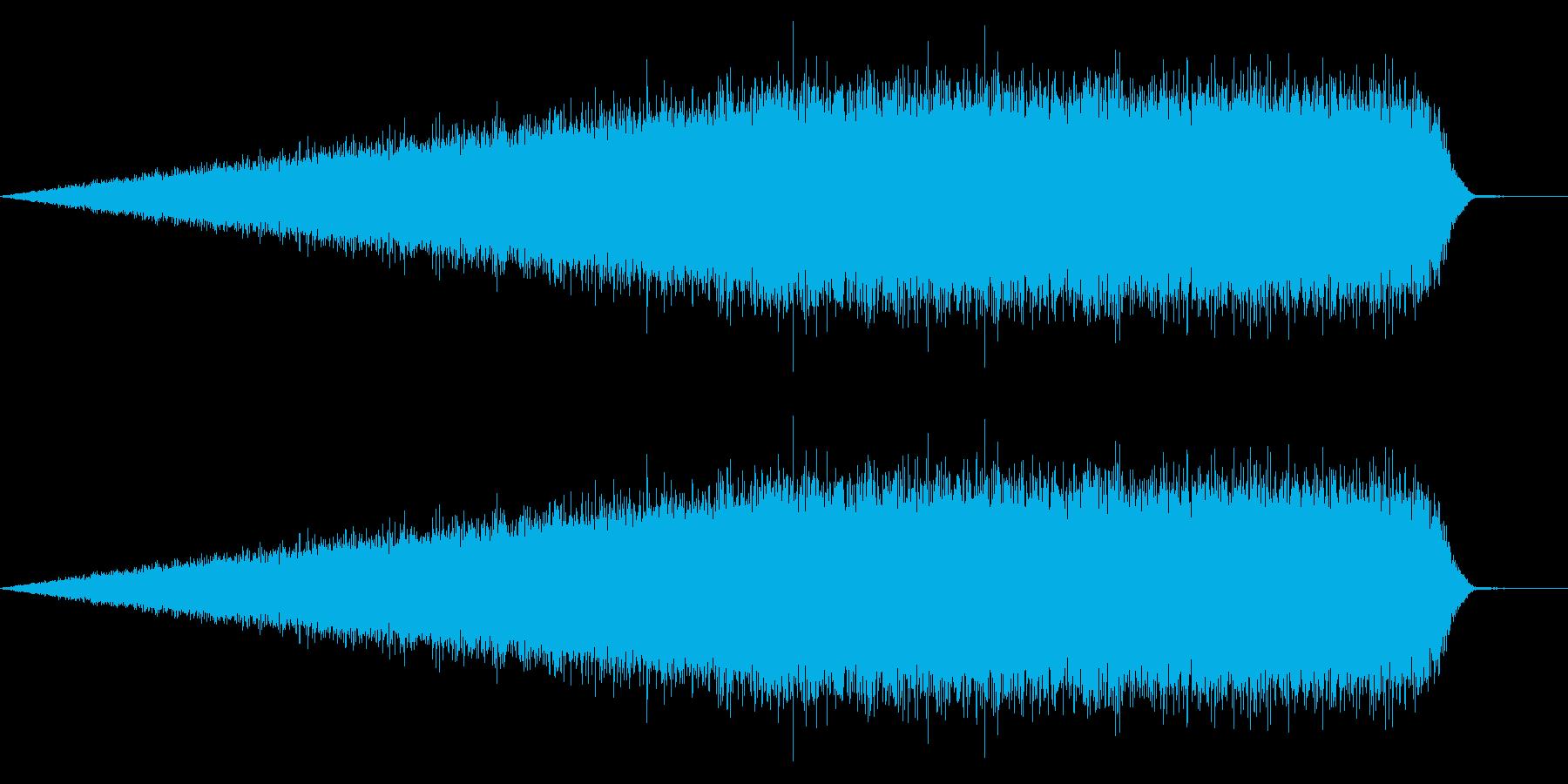 砂嵐ノイズのような効果音_ホラー系の再生済みの波形