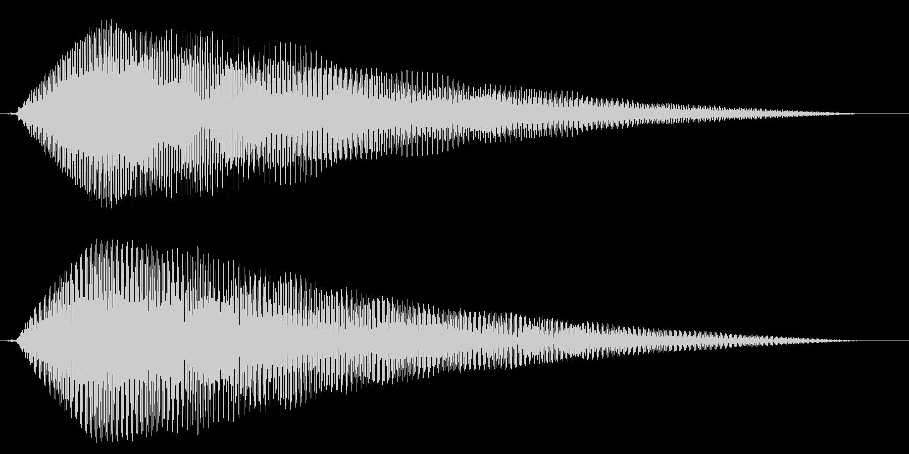 ホラー系アタック音66の未再生の波形