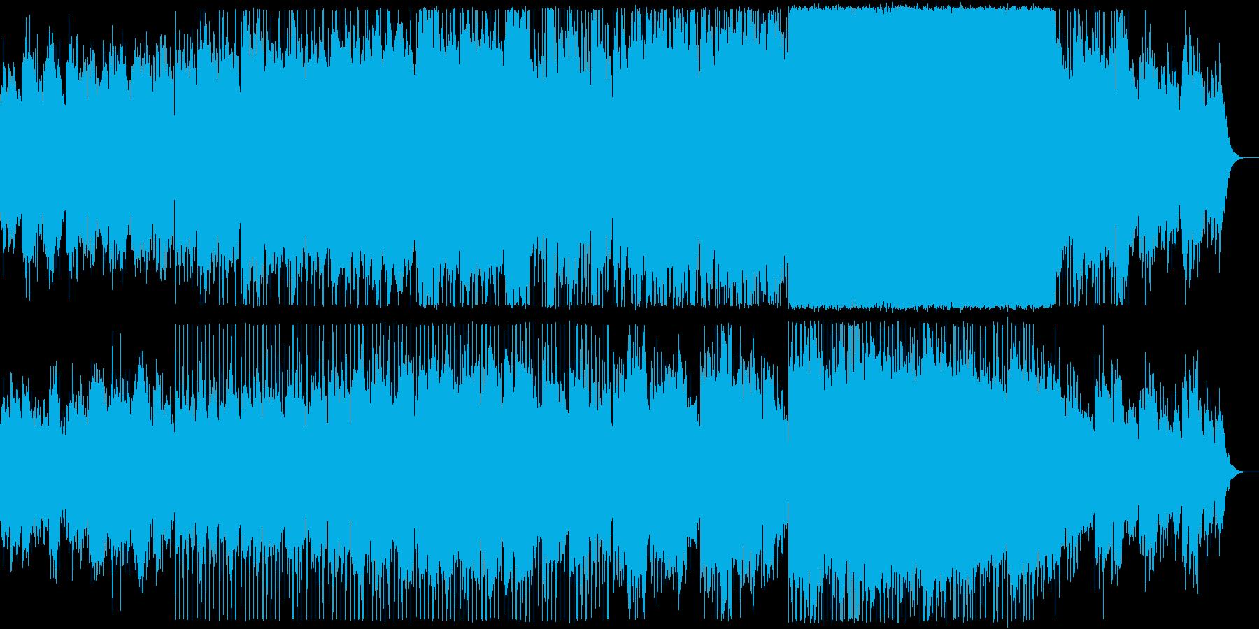 アンビエント/透明/優しい/風/電子音の再生済みの波形