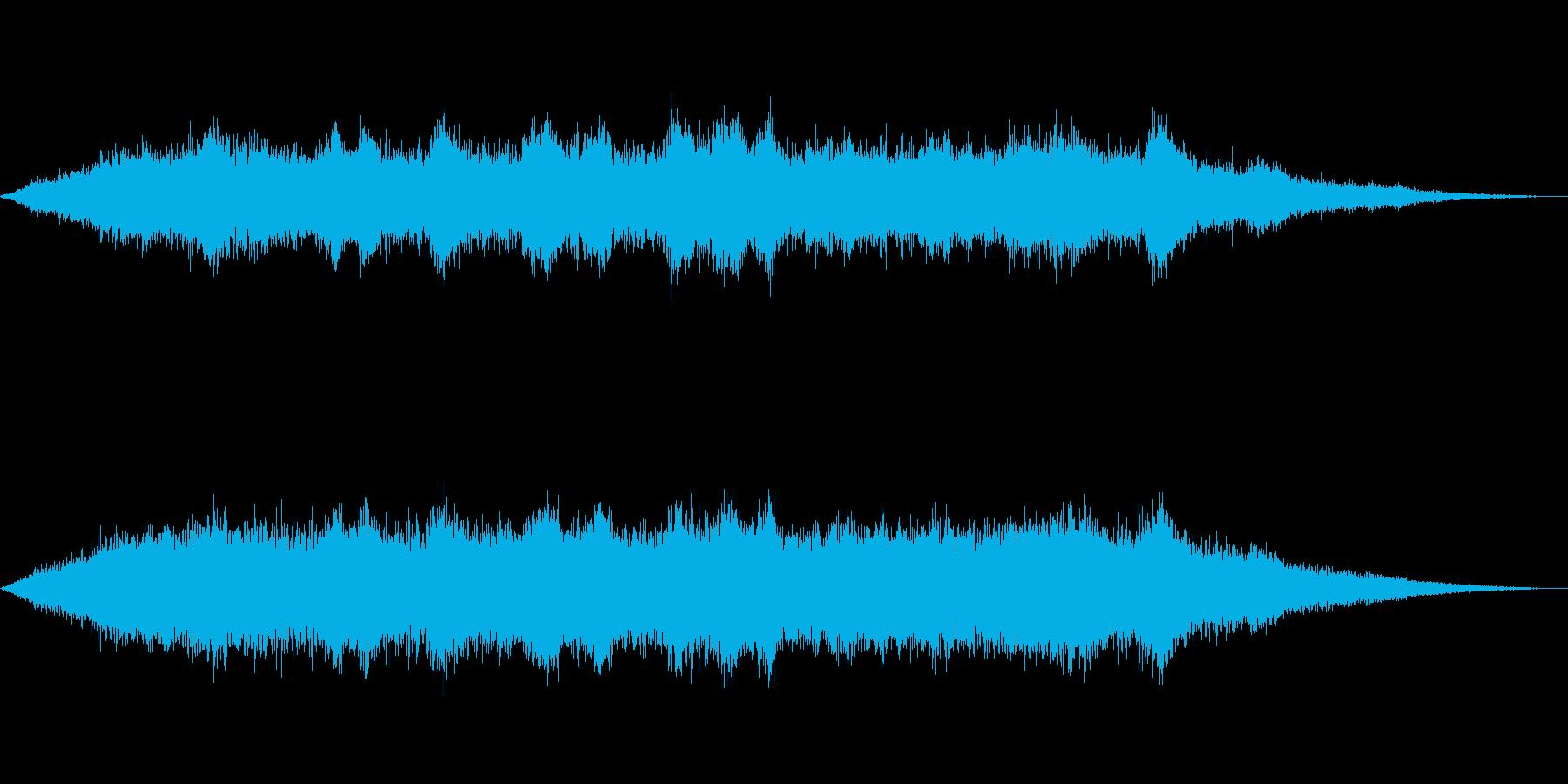 海 波 浜辺 海岸 カモメ等の環境音10の再生済みの波形