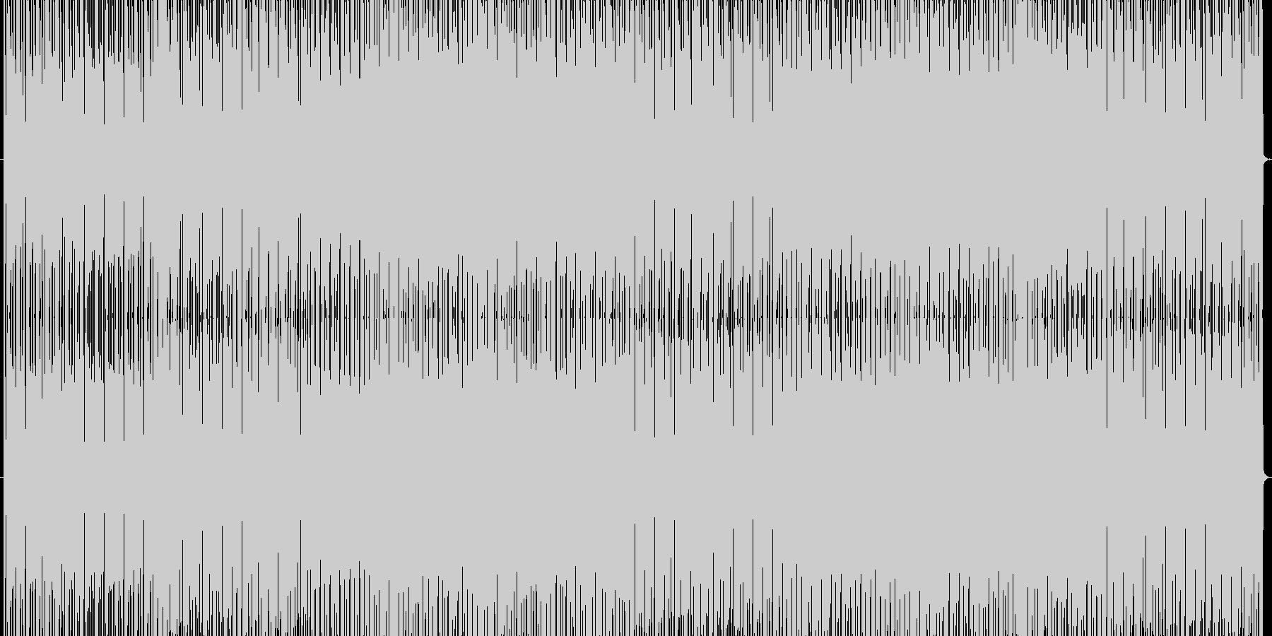 ピコピコしたパズルゲーム風テクノポップの未再生の波形
