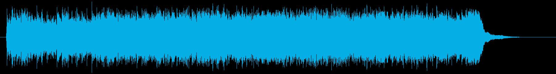 壮大で悠長なシンセポップジングルの再生済みの波形