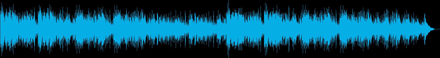 子守歌のようなリラクゼーション曲の再生済みの波形