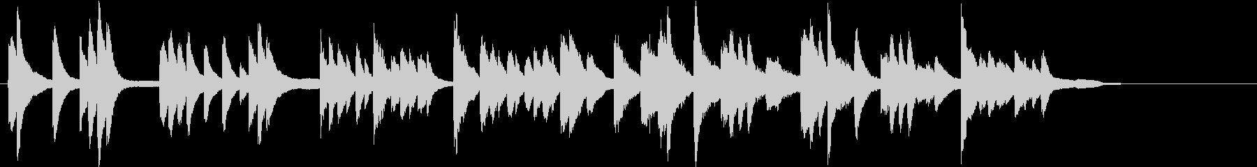静かなヒーリングBGM ピアノの未再生の波形