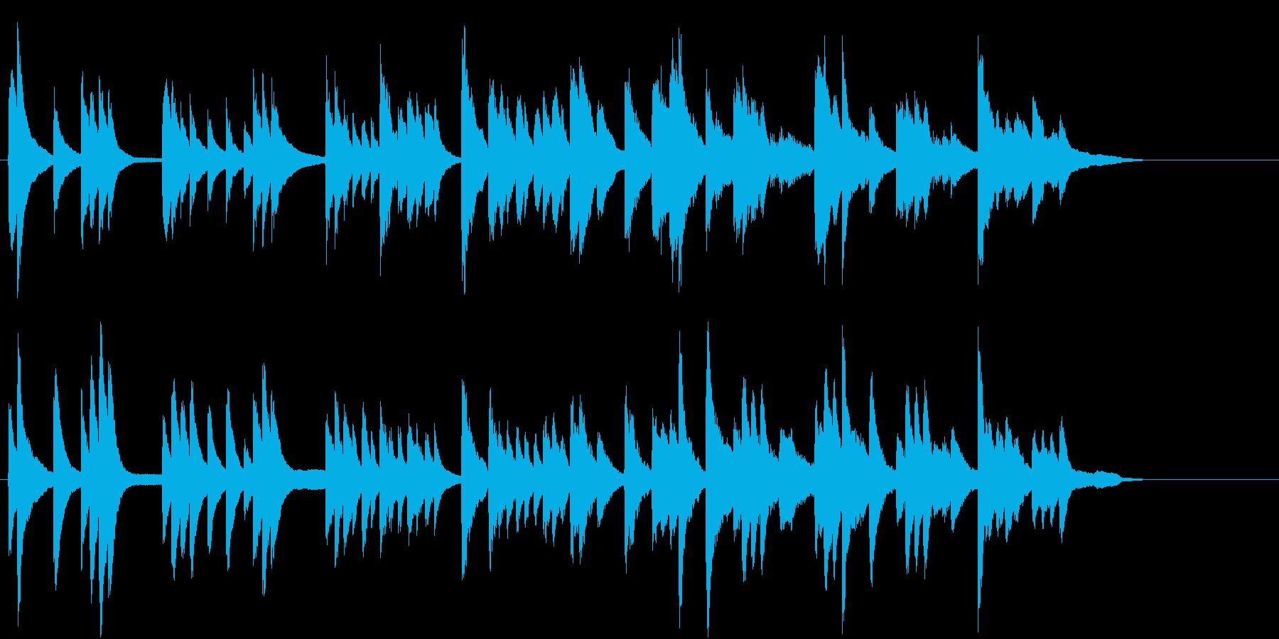 静かなヒーリングBGM ピアノの再生済みの波形