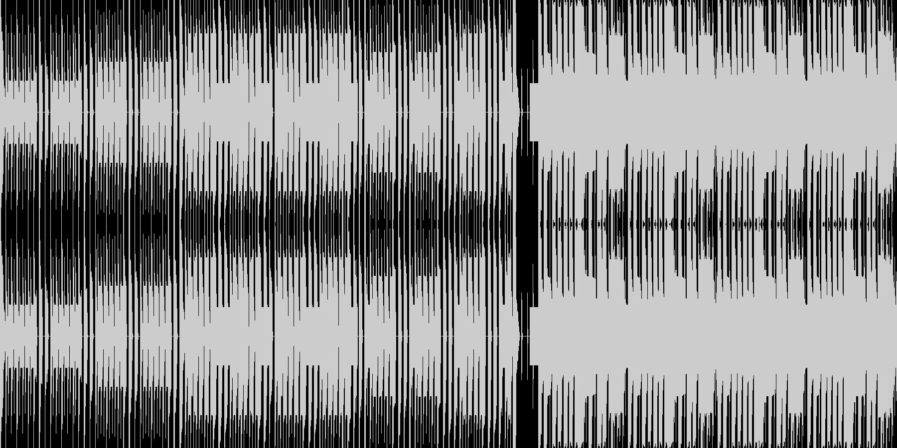 明るい雰囲気の戦闘BGM風チップチューンの未再生の波形